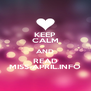 KEEP CALM AND READ MISS-APRIL.INFO - Personalised Poster A4 size
