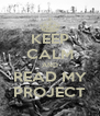 KEEP CALM AND READ MY PROJECT - Personalised Poster A4 size
