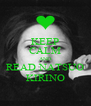 KEEP CALM AND READ NATSUO KIRINO - Personalised Poster A4 size