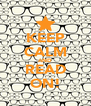 KEEP CALM AND READ ON! - Personalised Poster A4 size