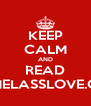 KEEP CALM AND READ PAMELASSLOVE.COM - Personalised Poster A4 size