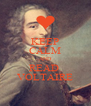 KEEP CALM AND READ  VOLTAIRE - Personalised Poster A4 size