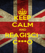 KEEP CALM AND REAGISCI  C***O - Personalised Poster A4 size