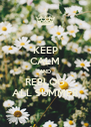 KEEP CALM AND REBLOG ALL SUMMER - Personalised Poster A4 size