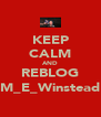 KEEP CALM AND REBLOG M_E_Winstead - Personalised Poster A4 size