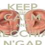 KEEP CALM AND RECCHIA N'GAP - Personalised Poster A4 size