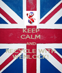KEEP CALM AND RECYCLE WITH WENLOCK! - Personalised Poster A4 size