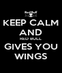 KEEP CALM AND RED BULL GIVES YOU WINGS - Personalised Poster A4 size