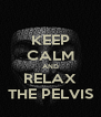 KEEP CALM AND RELAX THE PELVIS - Personalised Poster A4 size