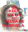 KEEP CALM AND RELEASE GABRIELA  - Personalised Poster A4 size