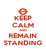 KEEP CALM AND REMAIN STANDING - Personalised Poster A4 size