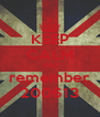KEEP CALM AND remember 200613 - Personalised Poster A4 size