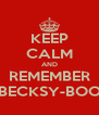KEEP CALM AND REMEMBER BECKSY-BOO - Personalised Poster A4 size