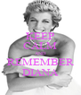 KEEP CALM AND REMEMBER DIANA - Personalised Poster A4 size