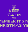 KEEP CALM AND REMEMBER IT'S NOT CHRISTMAS YET - Personalised Poster A4 size