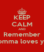 KEEP CALM AND Remember momma loves you - Personalised Poster A4 size