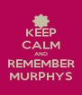 KEEP CALM AND REMEMBER MURPHYS - Personalised Poster A4 size