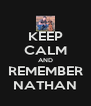 KEEP CALM AND REMEMBER NATHAN - Personalised Poster A4 size