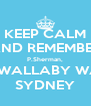KEEP CALM AND REMEMBER P.Sherman, 42 WALLABY WAY, SYDNEY - Personalised Poster A4 size