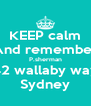 KEEP calm And remember P.sherman 42 wallaby way Sydney - Personalised Poster A4 size