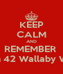 KEEP CALM AND REMEMBER   P. Sherman 42 Wallaby Way Sydney - Personalised Poster A4 size