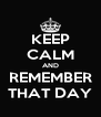 KEEP CALM AND REMEMBER THAT DAY - Personalised Poster A4 size
