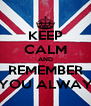 KEEP CALM AND REMEMBER THAT YOU ALWAYS WIN - Personalised Poster A4 size