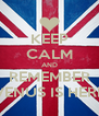 KEEP CALM AND  REMEMBER  VENUS IS HERE - Personalised Poster A4 size