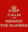 KEEP CALM AND REMIND THE NUMBER - Personalised Poster A4 size