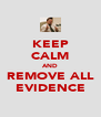 KEEP CALM AND REMOVE ALL EVIDENCE - Personalised Poster A4 size