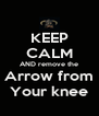 KEEP CALM AND remove the Arrow from Your knee - Personalised Poster A4 size
