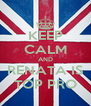 KEEP CALM AND RENATA IS TOP PRO - Personalised Poster A4 size