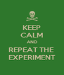 KEEP CALM AND REPEAT THE  EXPERIMENT - Personalised Poster A4 size