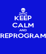 KEEP CALM AND REPROGRAM  - Personalised Poster A4 size