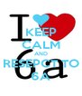 KEEP CALM AND RESEPCT TO 6A - Personalised Poster A4 size