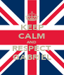 KEEP CALM AND RESPECT GABRIEL - Personalised Poster A4 size