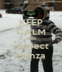 KEEP CALM AND respect hamza - Personalised Poster A4 size