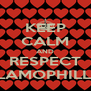 KEEP CALM AND RESPECT ISLAMOPHILLIA - Personalised Poster A4 size