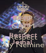 Keep  Calm  And Respect Jemal  - Personalised Poster A4 size