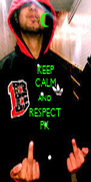 KEEP CALM AND RESPECT PK - Personalised Poster A4 size