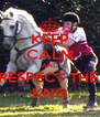 KEEP CALM AND RESPECT THE  KNG - Personalised Poster A4 size