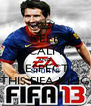 KEEP CALM AND RESPECT  THIS FIFA KING - Personalised Poster A4 size