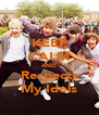 KEEP CALM AND Respects  My Idols  - Personalised Poster A4 size