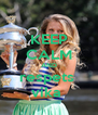 KEEP CALM AND respets  vika  - Personalised Poster A4 size