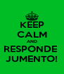 KEEP CALM AND RESPONDE  JUMENTO! - Personalised Poster A4 size