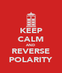 KEEP CALM AND REVERSE POLARITY - Personalised Poster A4 size