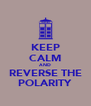 KEEP CALM AND REVERSE THE POLARITY - Personalised Poster A4 size