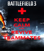 KEEP CALM AND REVIVE TEAMMATES - Personalised Poster A4 size