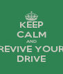 KEEP CALM AND REVIVE YOUR DRIVE - Personalised Poster A4 size