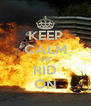 KEEP CALM AND RID ON - Personalised Poster A4 size